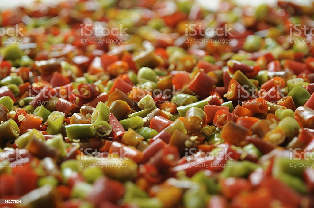 hot stuff, chopped red chili peppers royalty-free stock photo