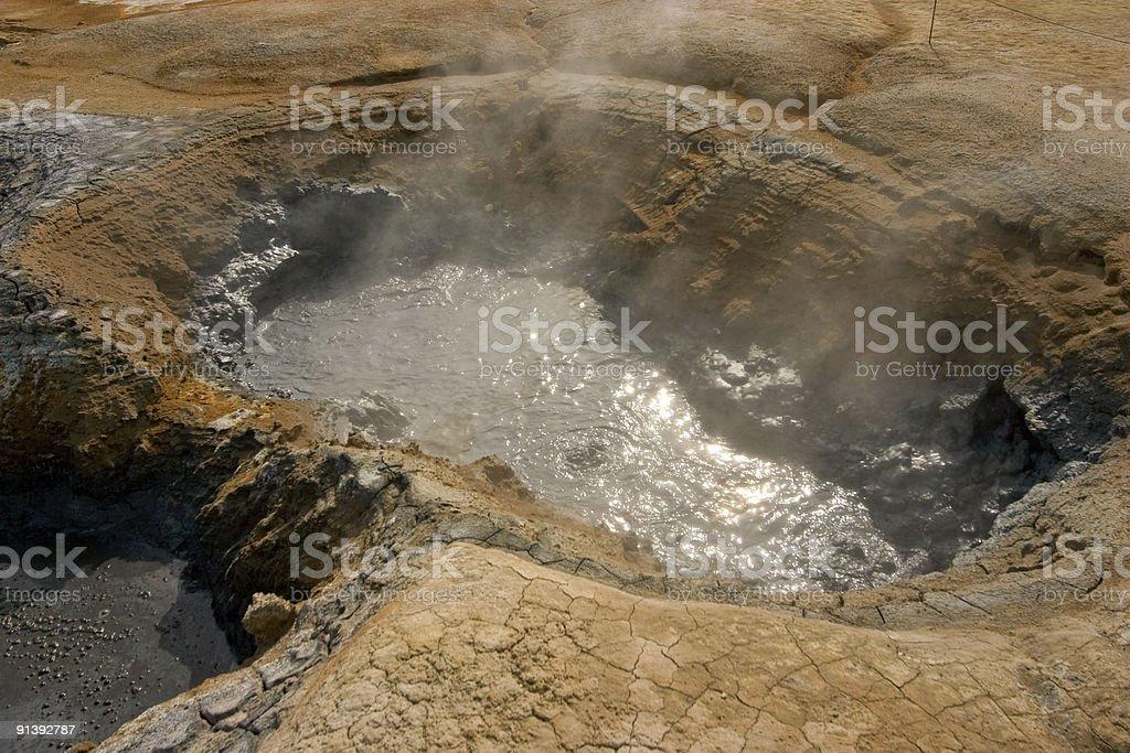Hot sulfur springs royalty-free stock photo