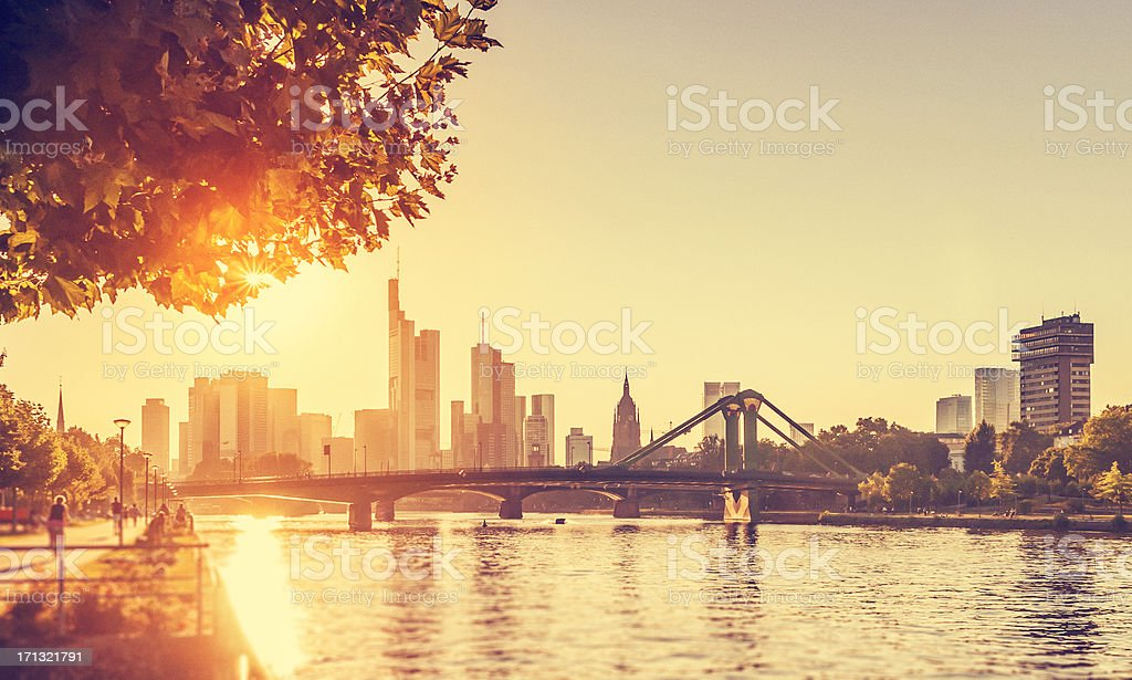 Hot summer day - Frankfurt am Main stock photo
