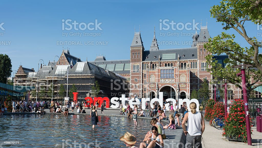 Hot summer day in Amsterdam royalty-free stock photo