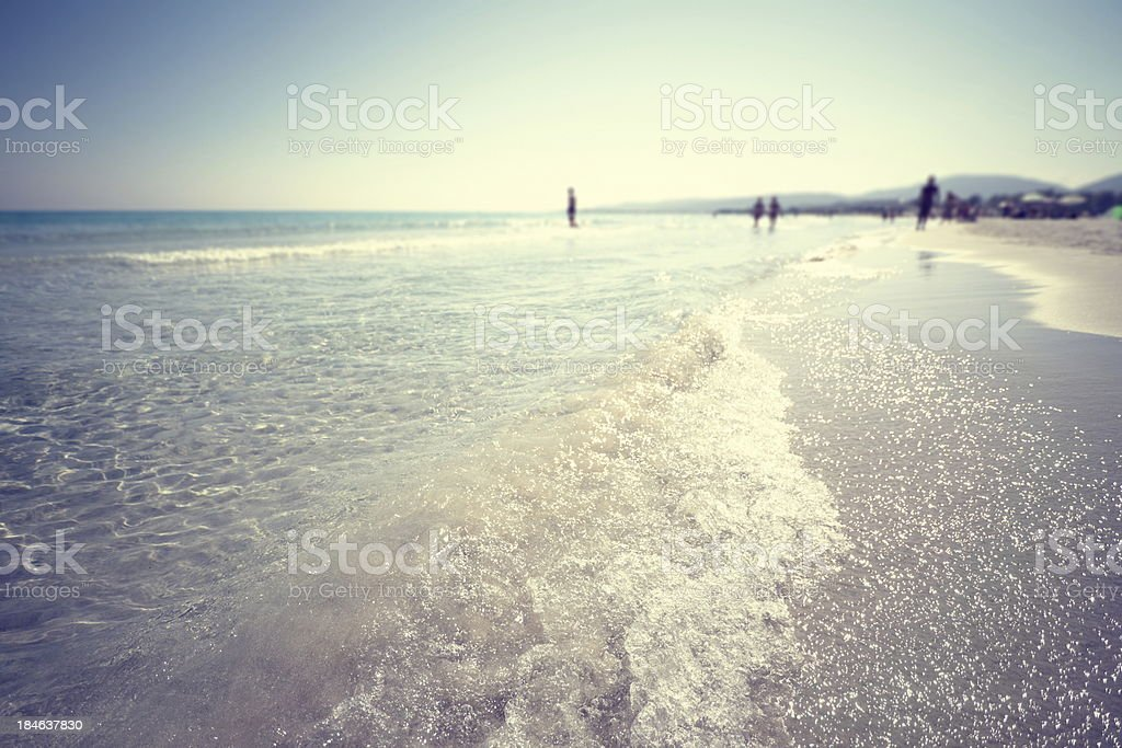 Hot summer day on beach royalty-free stock photo
