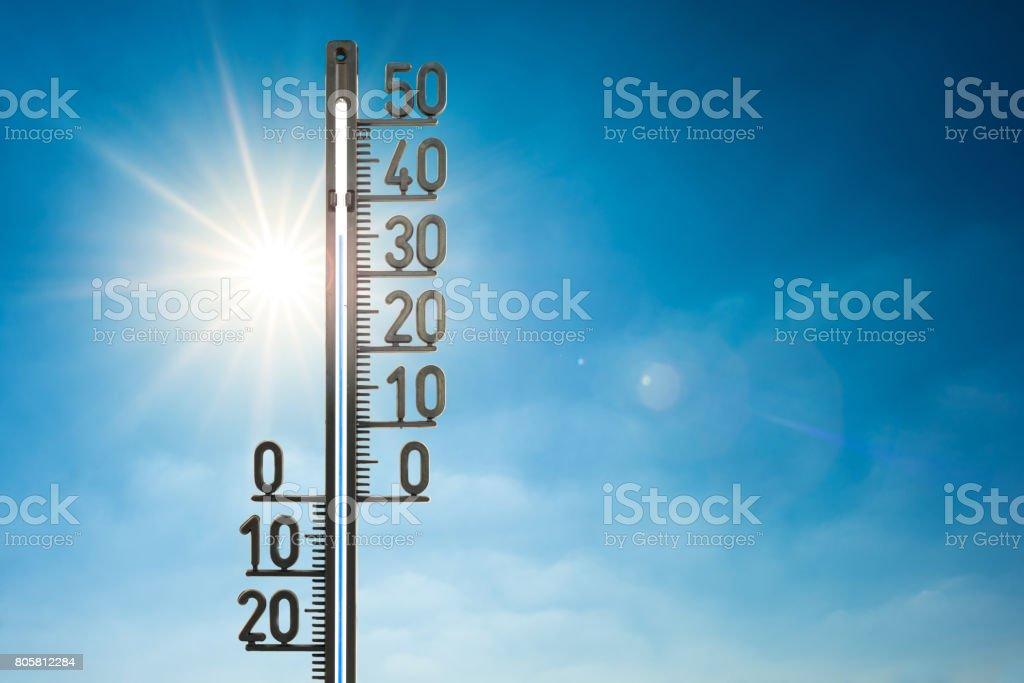 Hot summer stock photo