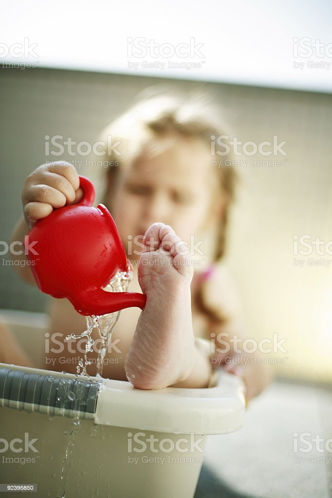 Hot summer stock photo