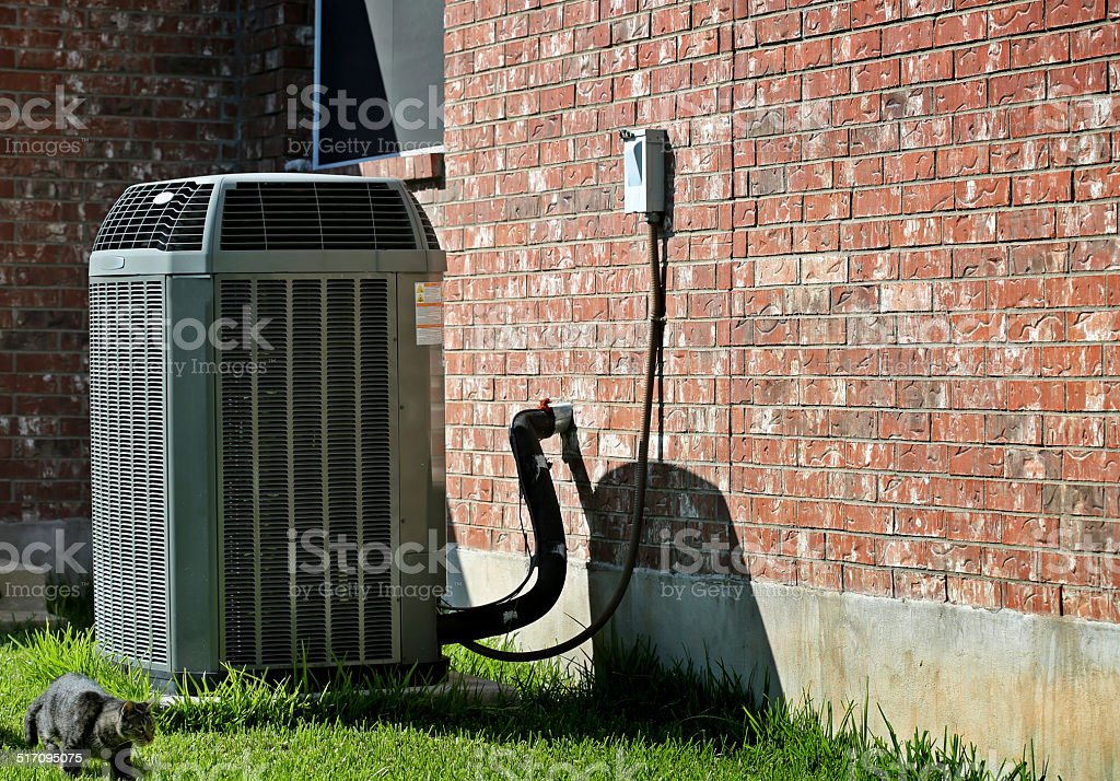 Hot sunny day-AC stock photo