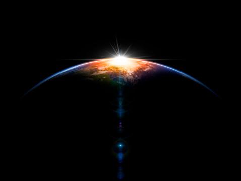 Astronomical background. 3D render.