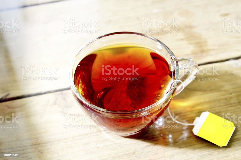 Hot tea in glass royalty-free stock photo