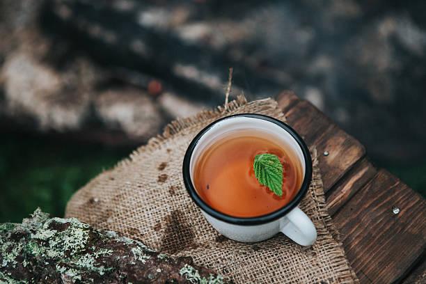 hot tea on a fire – Foto