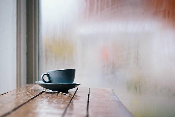 Hot tea on an autumn day