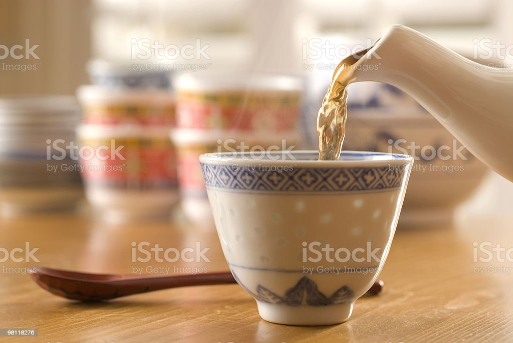 Hot Tea Pour royalty-free stock photo