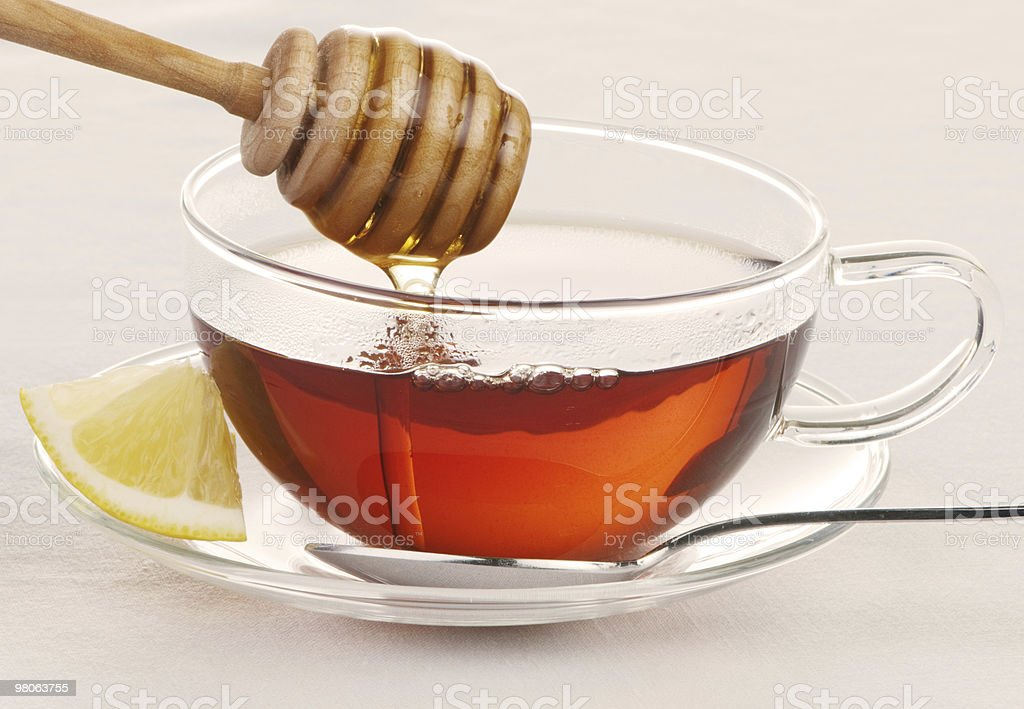 Hot Tea With Honey royalty-free stock photo