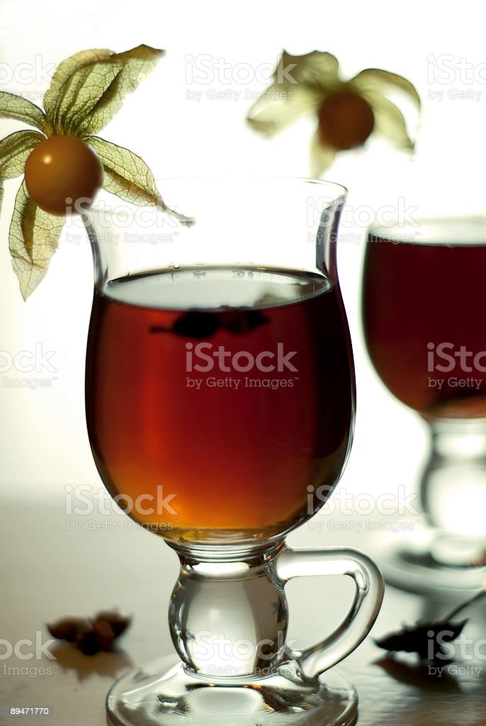 Hot tea with spices II royalty-free stock photo