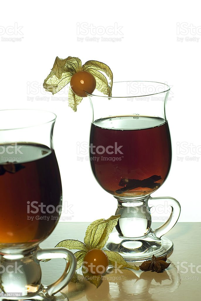 Hot tea with spices III royalty-free stock photo