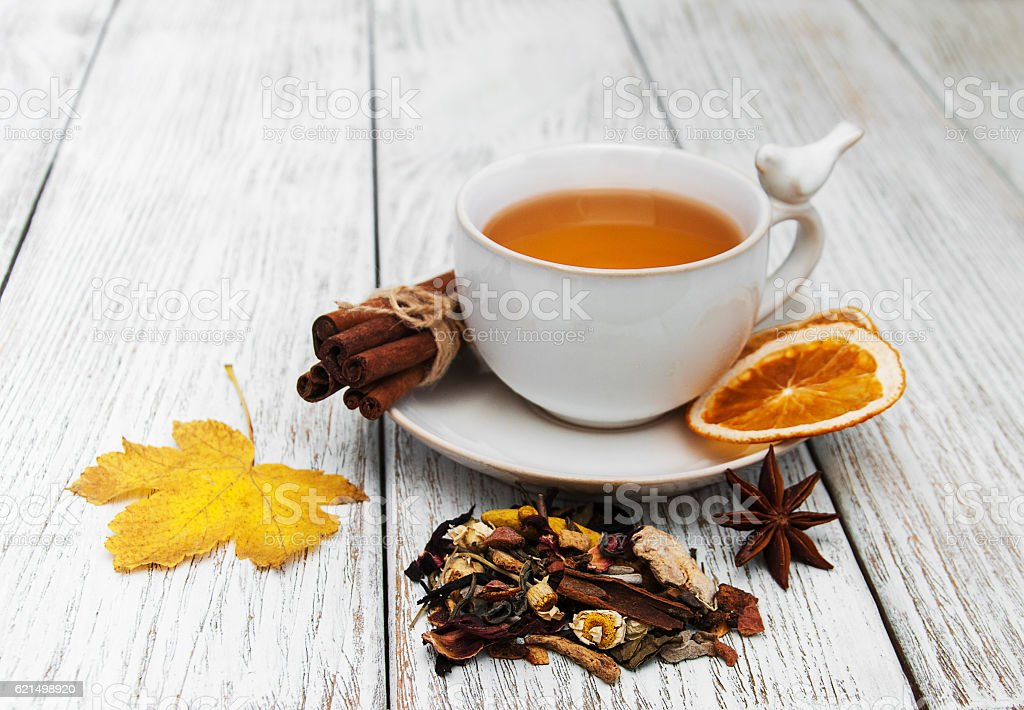 hot tea with spices foto stock royalty-free