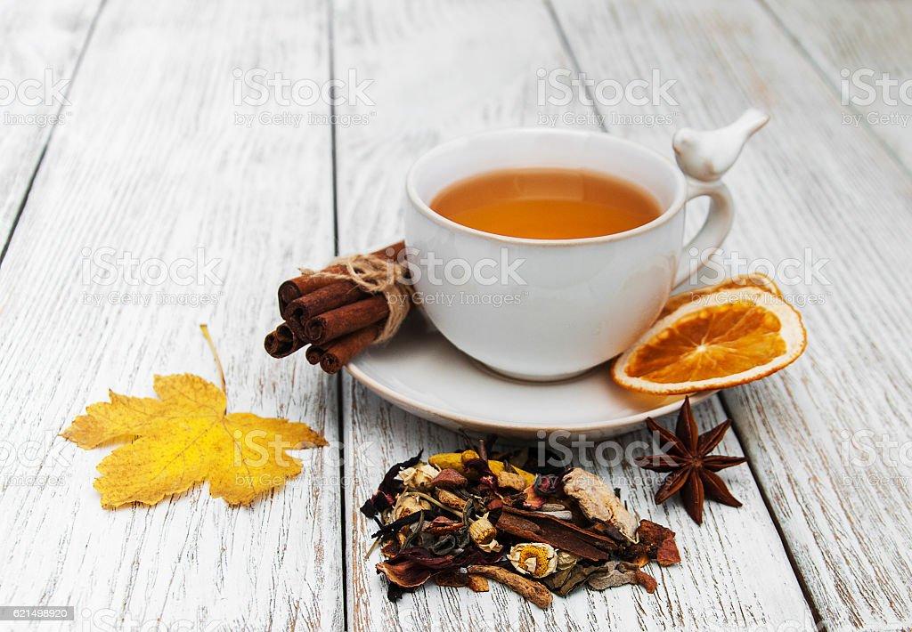 hot tea with spices Lizenzfreies stock-foto