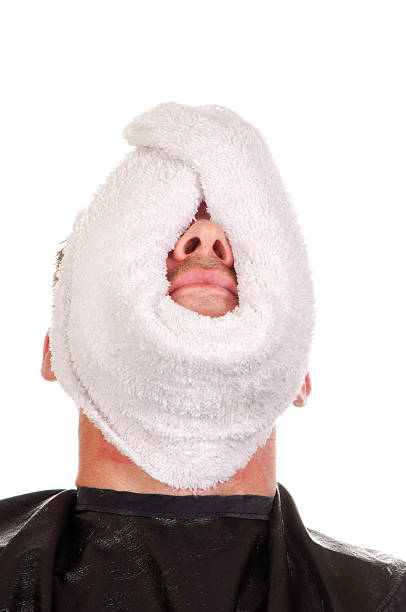 Hot Towel weichem Gesicht alle Nose – Foto