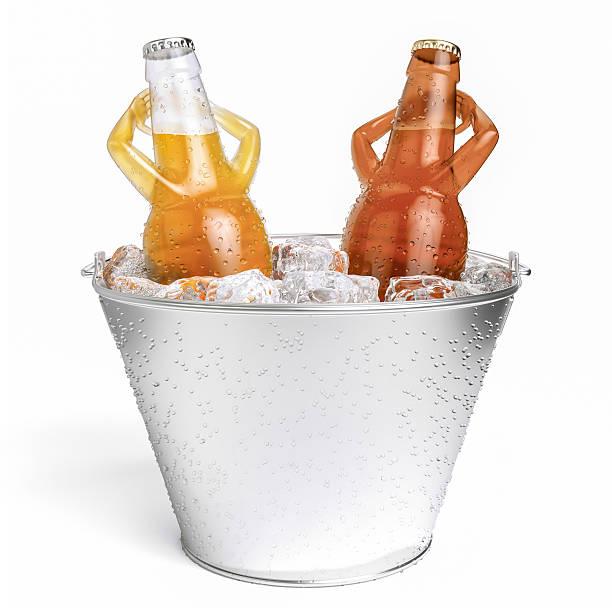 hot tub beer-letterless stock photo