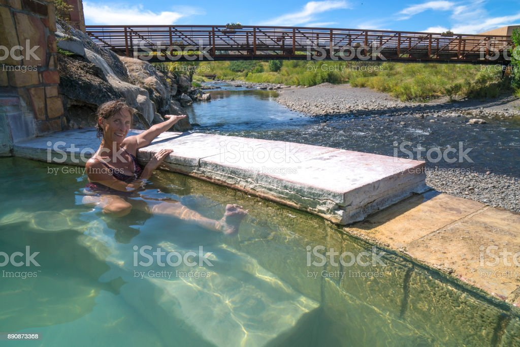 Hot Tub By The River Stock Photo & More Pictures of Adult