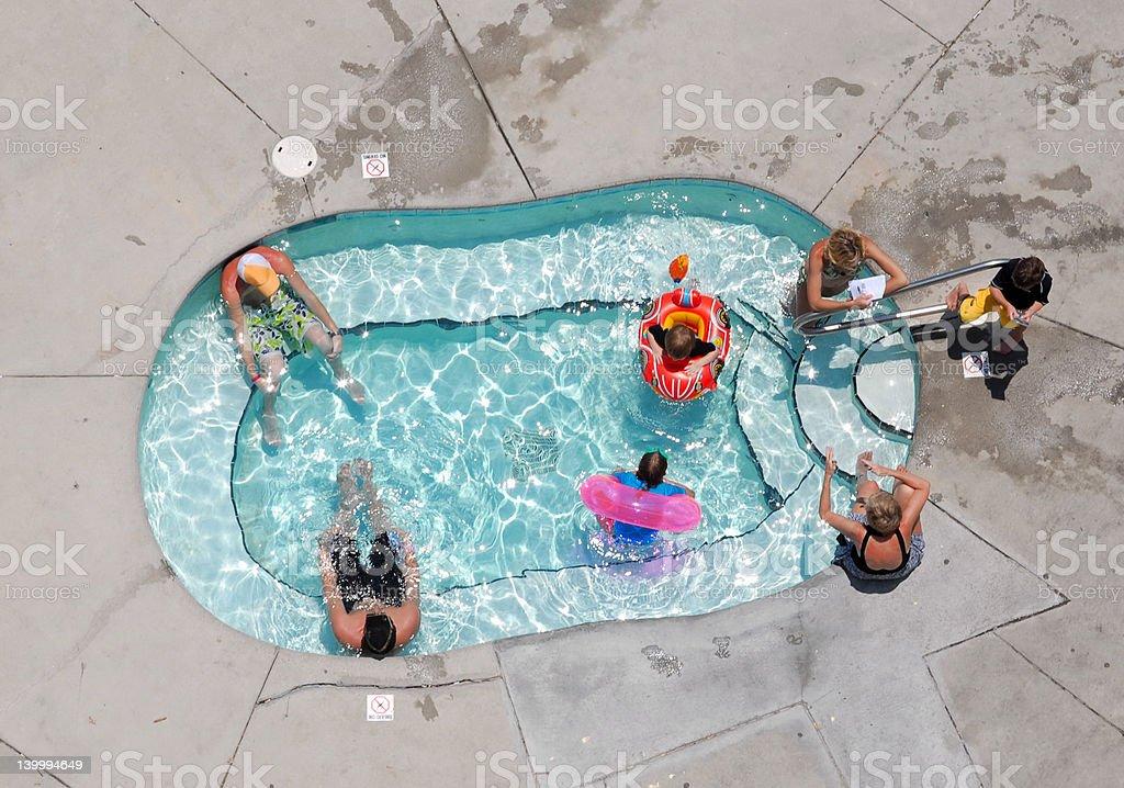 Hot Tub Mid Day stock photo