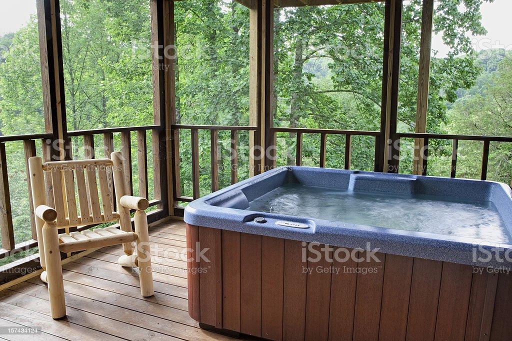Hot Tub Tree House (XXL) royalty-free stock photo