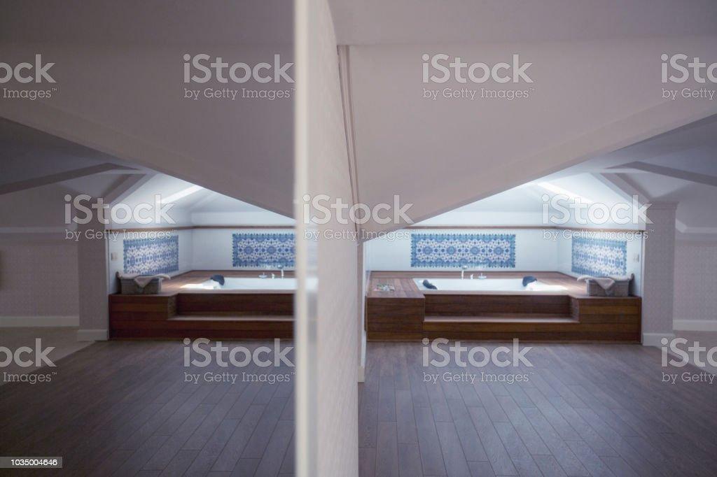 hot tube in a luxury loft