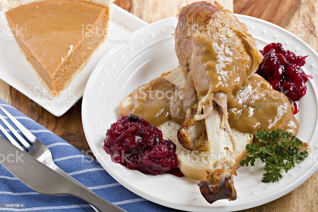 Hot Turkey Sandwich stock photo