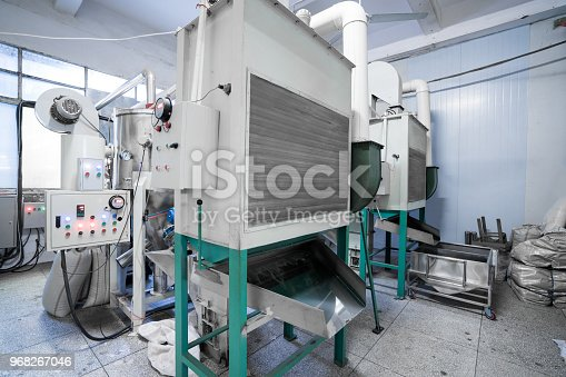 istock Hot water boiler. Boiler room with a heating system 968267046