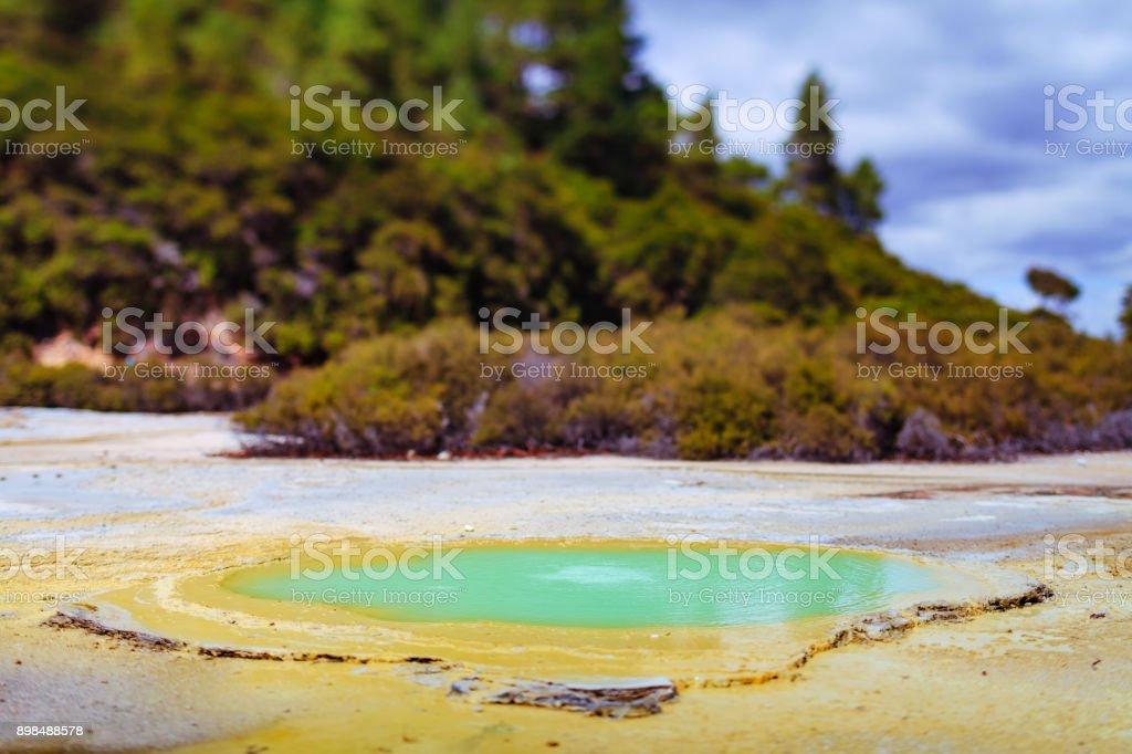hot water pool - Wai-O-Tapu park stock photo