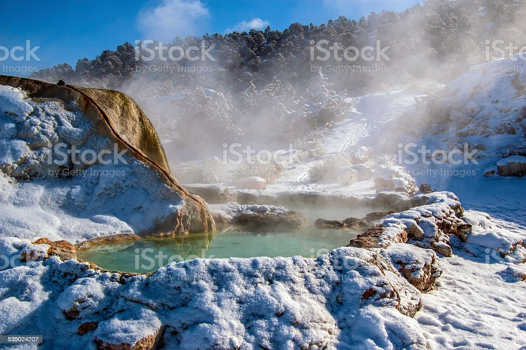 Hot Water Snow stock photo