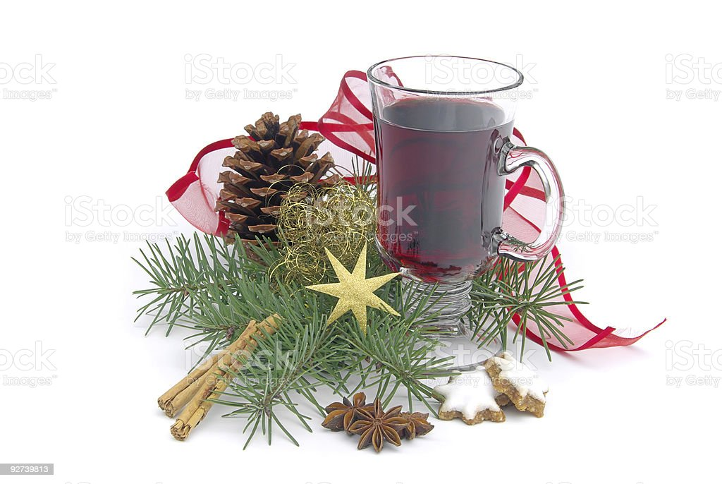 hot wine punch royalty-free stock photo