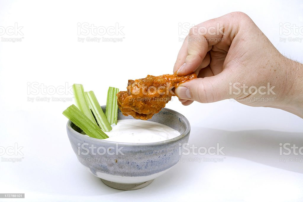 Hot Wing and Blue Cheese stock photo