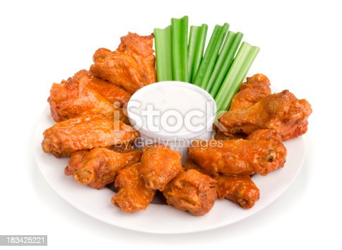 Hot Wings isolated on white. Please see my portfolio for other food related images.
