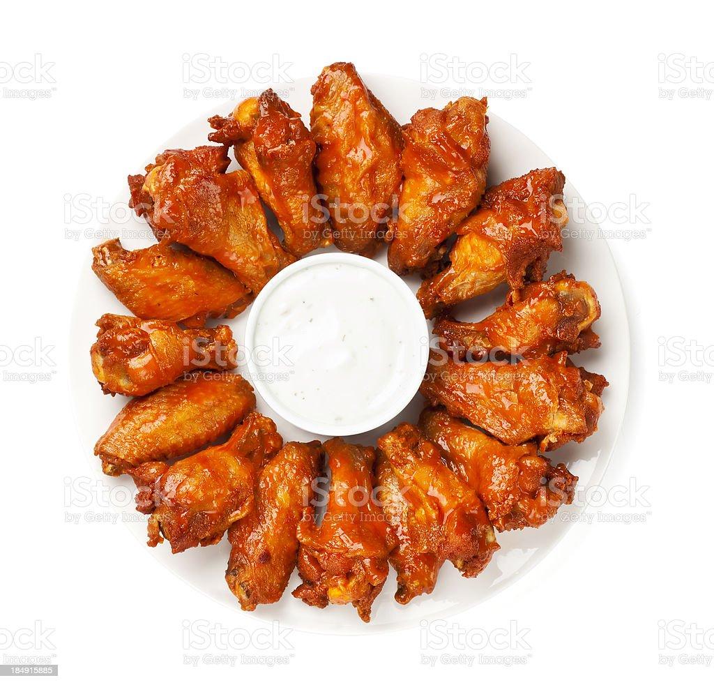 Asinhas de frango - Foto de stock de Alimentação Não-saudável royalty-free