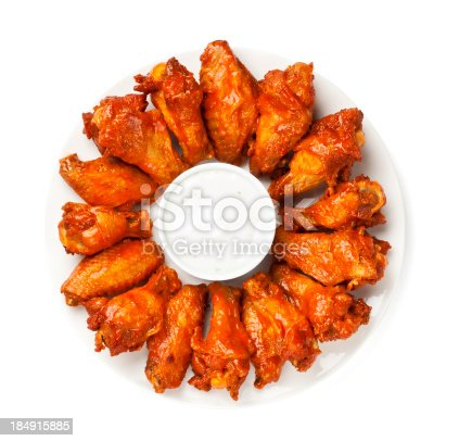 Hot wings platter - Please see my portfolio for other images of hot wings and other food related images.