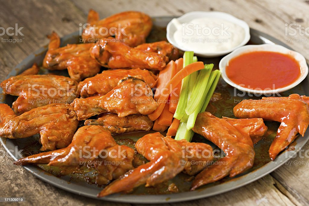 Hot Wings With The Works stock photo