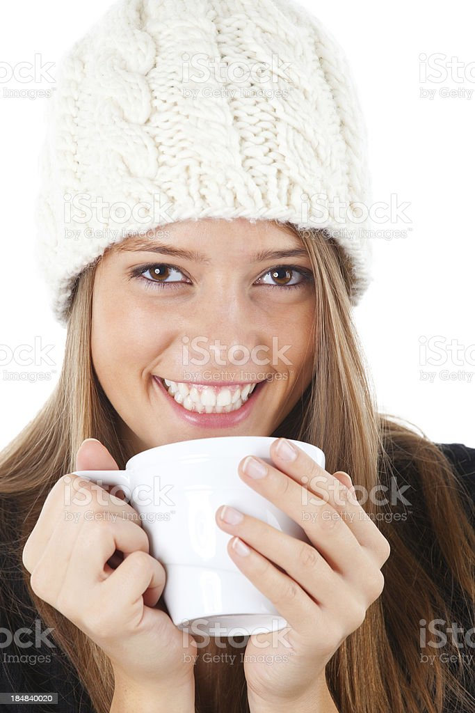 Hot winter beverage royalty-free stock photo