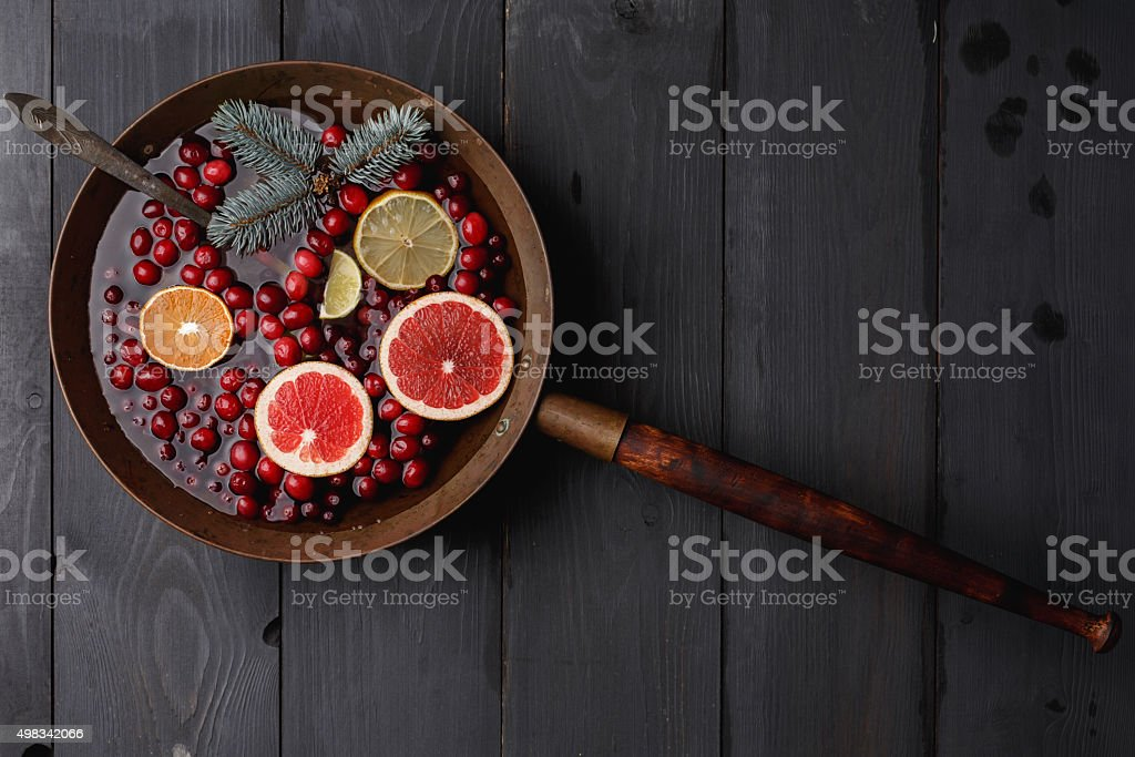 Hot winter punch stock photo