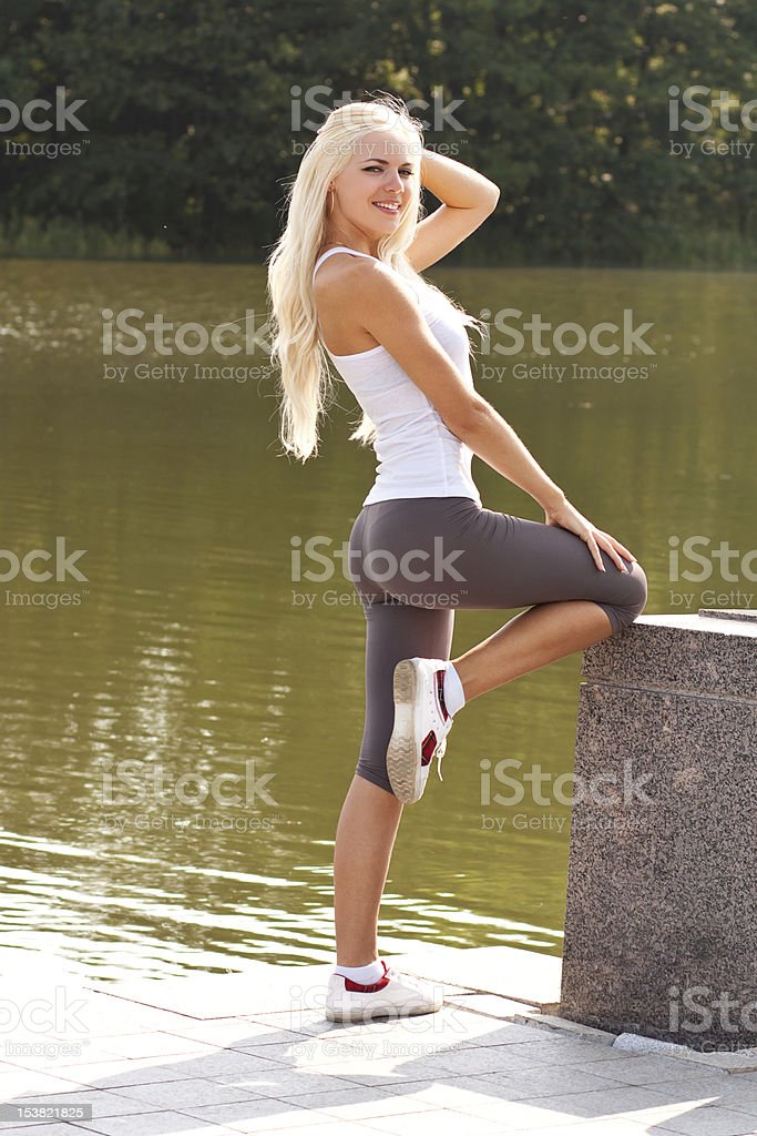 Blond hot women Hot Young Blond Model In The Park Stock Photo Download Image Now Istock
