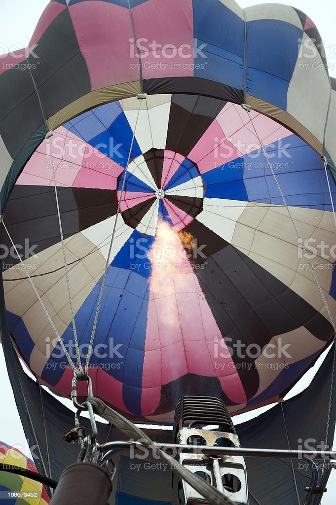 Hot-air balloon stock photo