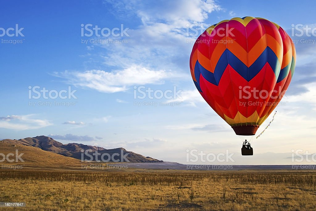 hot-air balloon rides stock photo