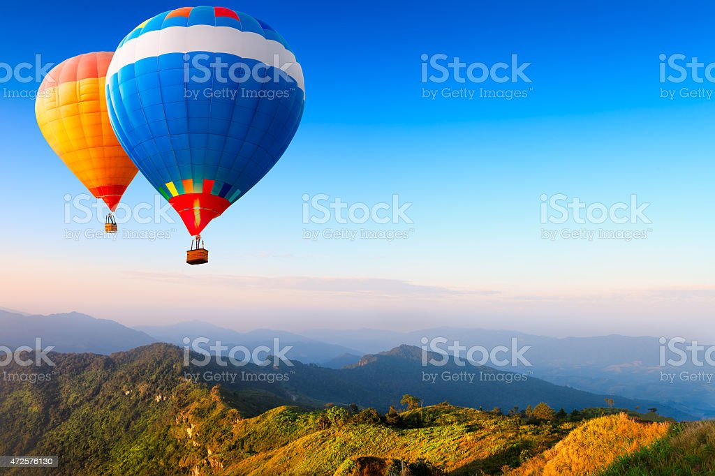 Hot-air balloons stock photo