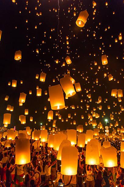 hot-air balloons stock photo