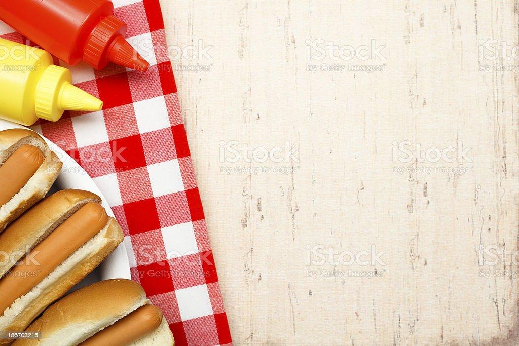 Hotdog and Fixings royalty-free stock photo