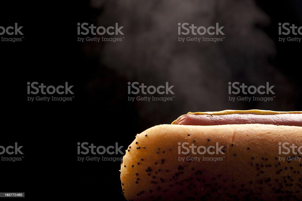Hotdog in Bun royalty-free stock photo