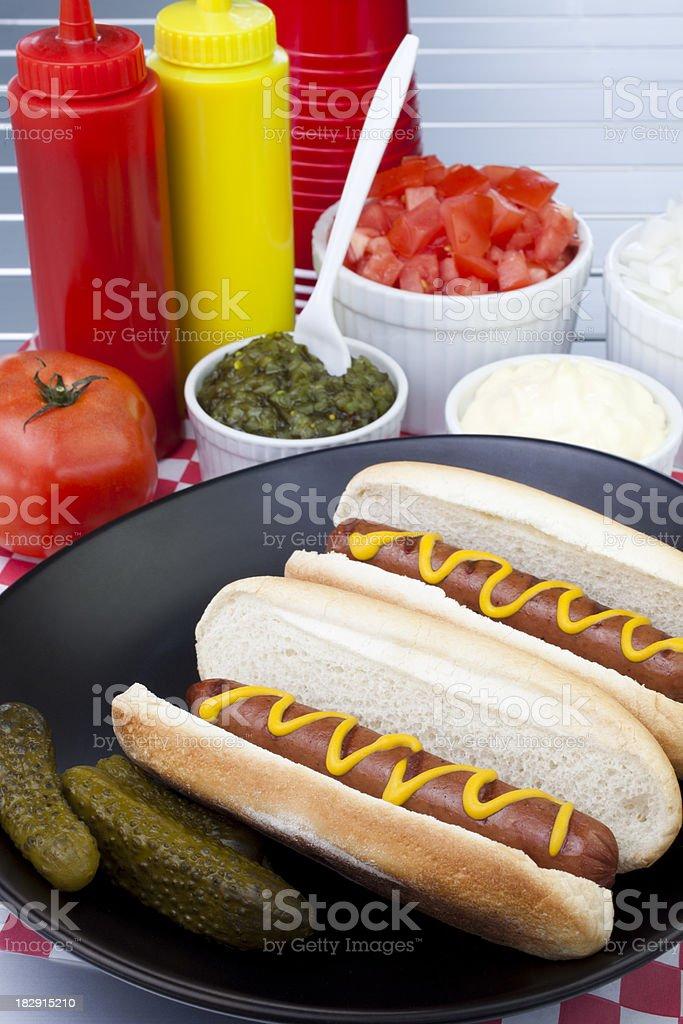 Hotdogs at Picnic royalty-free stock photo