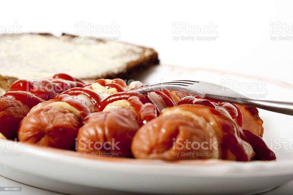 hot-dogs on a plate royalty-free stock photo