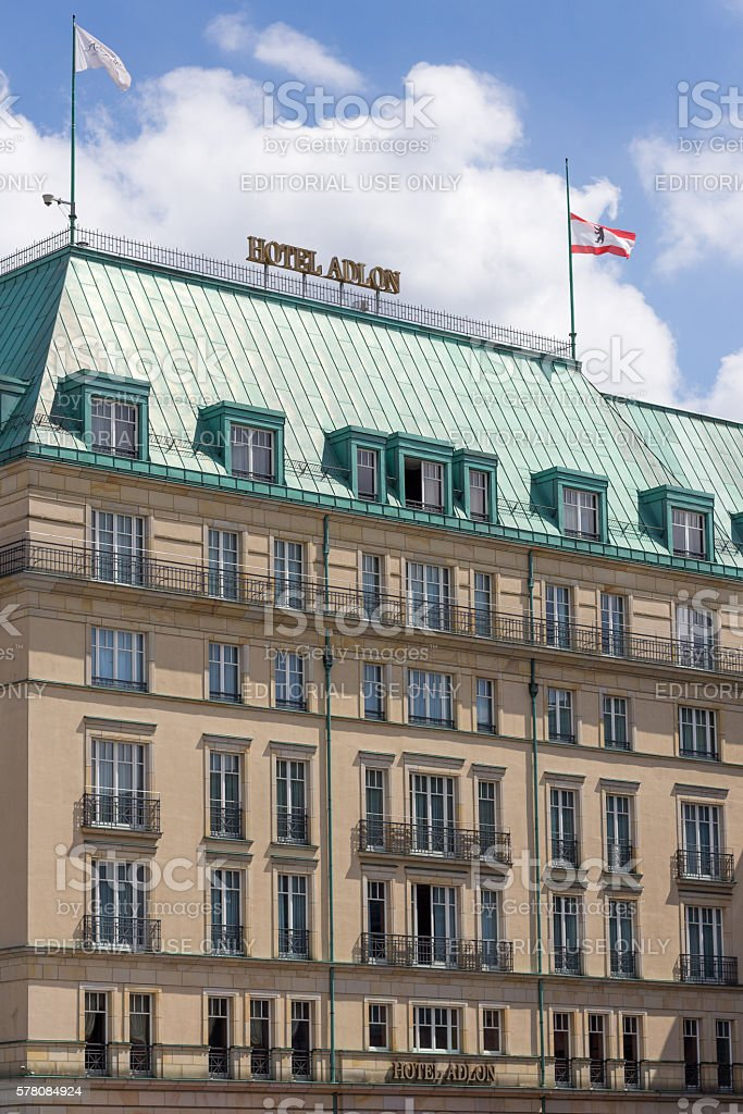 Hotel Adlon in Berlin stock photo