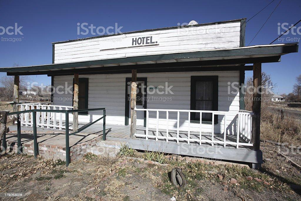 Hotel Along US 66 in Seligman, AZ stock photo