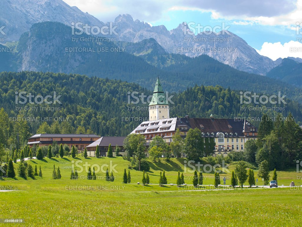 Hotel and castle Elmau in Germany royalty-free stock photo