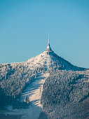 istock Hotel and transmitter Jested with ski slope 532024481