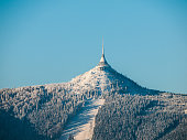 istock Hotel and transmitter Jested with ski slope 532024933